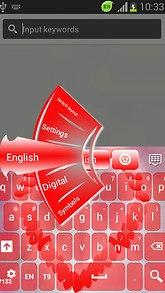 GO Keyboard Love Petal Theme