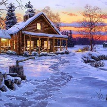 Log Cabin Art