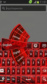 Red Neon Color Keyboard