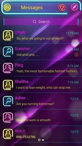 (FREE) GO SMS NEON LIGHT THEME