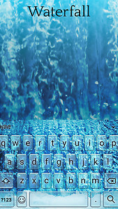 Waterfall Animated Keyboard