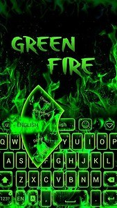 Green Fire GO Keyboard Theme