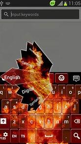 Red Flame GO Keyboard