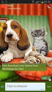 GO SMS Pro Theme Dog Cats