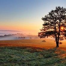 Morning Sunrise Over The Hills
