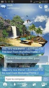 GO SMS Pro Theme tropical