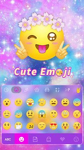 Cute Emoji Kika Keyboard Theme