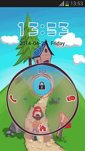 Lock Screen Cartoon Theme