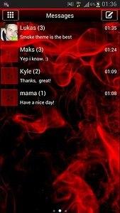 GO SMS Pro Theme Red Smoke