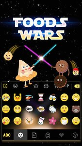 Foods Wars Emoji Kika Keyboard