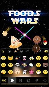 Foods Wars Emoji Kika Keyboard