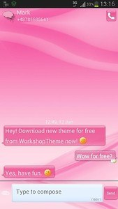 GO SMS pink style
