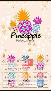 Pineapple Kika Keyboard Theme