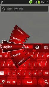 Red Glowing Keyboard