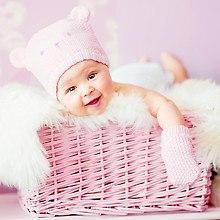 Cute Baby In Basket