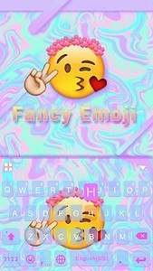 Fancy Emoji Kika KeyboardTheme