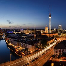 Berlin Skyline At Dusk