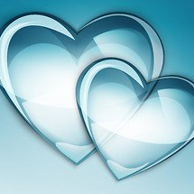 Blue Love Hearts