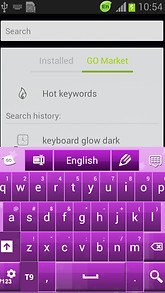 Keyboard Colors Purple