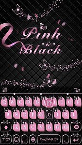 Pink &Black Kika KeyboardTheme