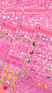 Pink Glitter Keyboard Theme