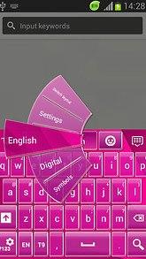 GO Keyboard Pink Simple