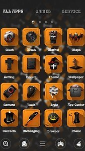 Crazy Halloween Launcher Theme
