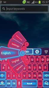 Pink Neon Keyboard GO