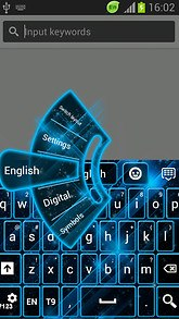 GO Keyboard Theme Blue Neon