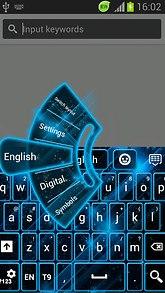GO Keyboard Theme Blue Neon