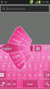 Pink Key Tones Keyboard