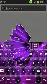 GO Keyboard Purple Light