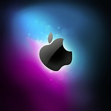 Purple & Blue Apple Logo