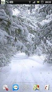 Snowfall Winter Road LWP
