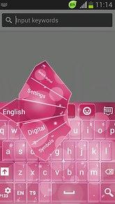Pink Keyboard for Samsung