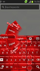 Red Glow GO Keyboard