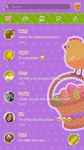 (FREE)GO SMS CUTE EASTER THEME