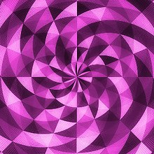 Spiral Mosaic Pink