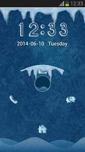 Frozen Lock Screen