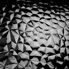 Black Polygon Glass