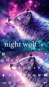 Night Wolf Kika Keyboard Theme
