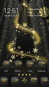 Silent Night GOLauncher Theme