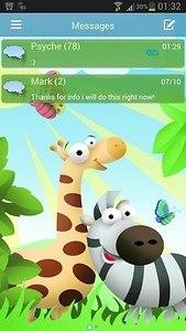 GO SMS Pro Theme animals