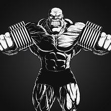 Bodybuilding Illustration