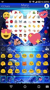 Pisces Emoji Keyboard Theme