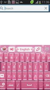 Pink Christmas GO Keyboard