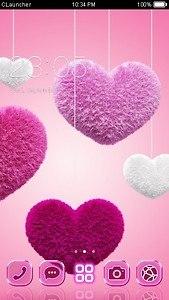 Fluffy Heart C Launcher Theme