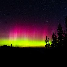 Northern Lights Natures Silhouette