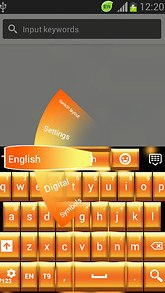 GO Keyboard Neon Gold Free