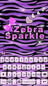 Zebra Sparkle Emoji Keyboard